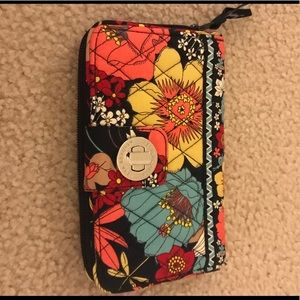 Vera Bradley Happy Snails Turnlock Wallet